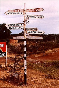 The sign to Rumuruti and beyond...