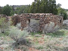 Glorieta Expeditions - Ruins of early homestead.