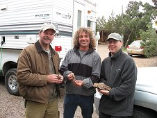 Glorieta Expeditions - Greg Hupe, Bob Haag and Partick Hermann showing their finds.