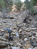 Glorieta Expeditions - Rugged wash area.