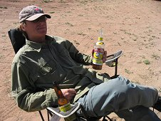 Glorieta Expeditions - Jim taking a well deserved break.