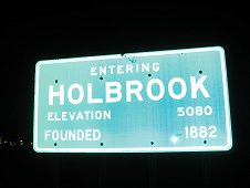 Holbrook Expeditions - Holbrook sign.